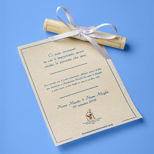 Pergamena 10x11 cm - Matrimonio